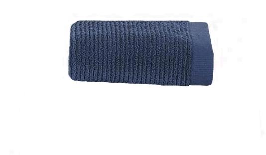 Toalha Lavabo Dual Rib Buddemeyer Azul Escuro 50 cm
