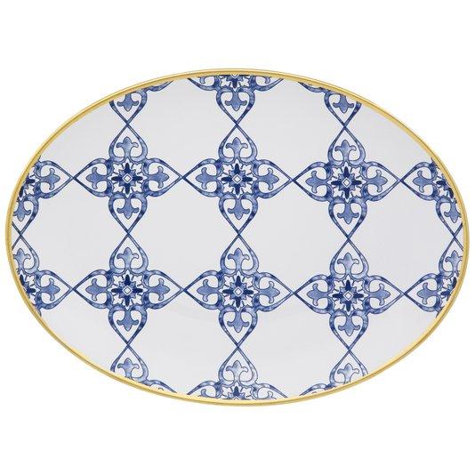 Travessa de Porcelana Coup Lusitana Oxford 31 cm
