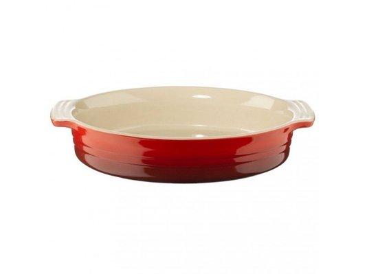 Travessa Oval de Cerâmica Le Creuset Vermelho 28 cm
