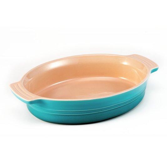 Travessa Oval Le Creuset Azul Caribe 24 cm