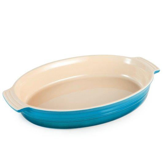 Travessa Oval Le Creuset Azul Caribe 28 cm