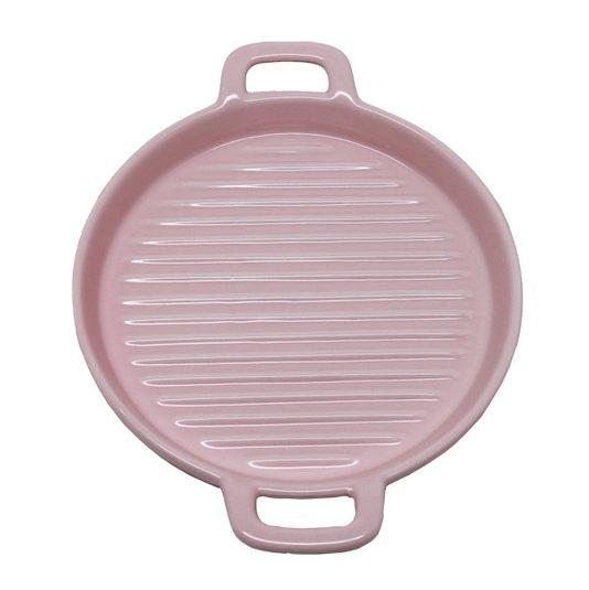 Travessa para Servir de Porcelana Rosa 23 cm
