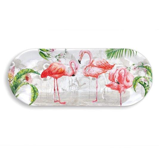 Travessa Pequena em Melamina Flamingo Michel Design