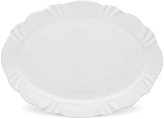 Travessa Soleil White Oxford Branco 42 cm