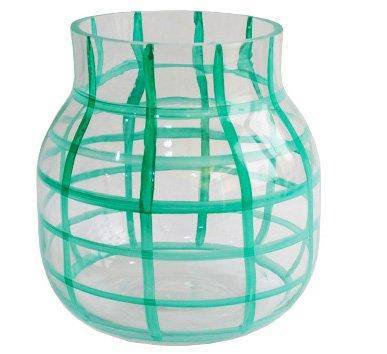 Vaso de Vidro Decorativo Verde 17 cm