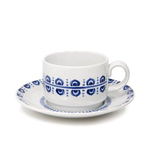 Xícara de Chá com Pires Azure Lux Vista Alegre