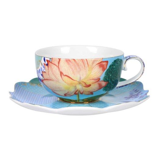 Xícara de Chá com Pires Flowers Royal Pip Studio 225 ml