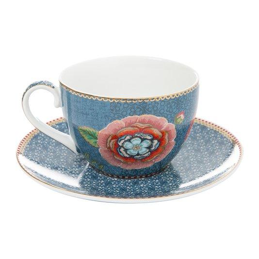 Xícara de Chá com Pires Spring to Life Pip Studio Azul