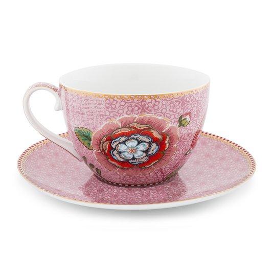 Xícara de Chá com Pires Spring to Life Pip Studio Rosa