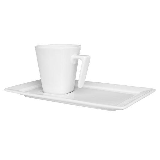 Xícara para Chá com Pires Plateau White Oxford Branco