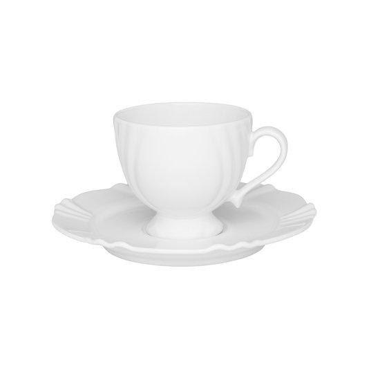 Xícara para Chá com Pires Soleil White Oxford Branco