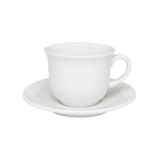 Xícara para Chá com Pires White Oxford 15cm 200ml