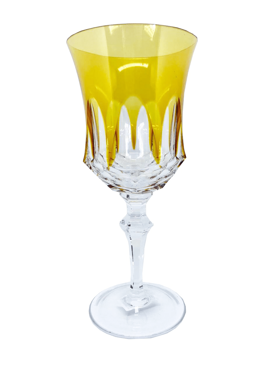 Taça para Água em Cristal Overley Mozart Âmbar 400 ml - LCL Home