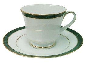 Jogo de Chá 12 Peças Marble Green Noritake Verde e Ouro
