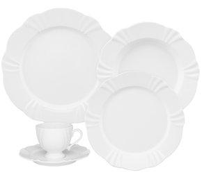 Jogo de Jantar e Chá 30 Peças Soleil White Oxford Branco