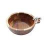 Bowl Redondo de Madeira Acácia Palmeira Rojemac 20 cm