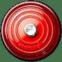 Caçarola Buffet Signature Le Creuset Vermelho 26 cm
