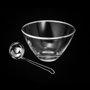 Compoteira de vidro e Concha de Aço Inox Planet Rojemac 21,5X13CM