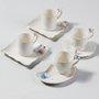 Conjunto De 6 Xícaras De Porcelana Para Café Birds Wolff 80 ml