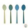 Jogo com 4 Colheres Esmaltadas Spring to Life Pip Studio Verde e Azul