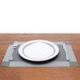 Lugar Americano de PVC Royal Decor Prateado 30x45 cm