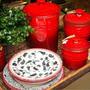Porta Condimentos Em Cerâmica Pequeno Le Creuset Vermelho