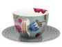 Xícara de Chá com Pires Floral Fantasy Pip Studio Azul